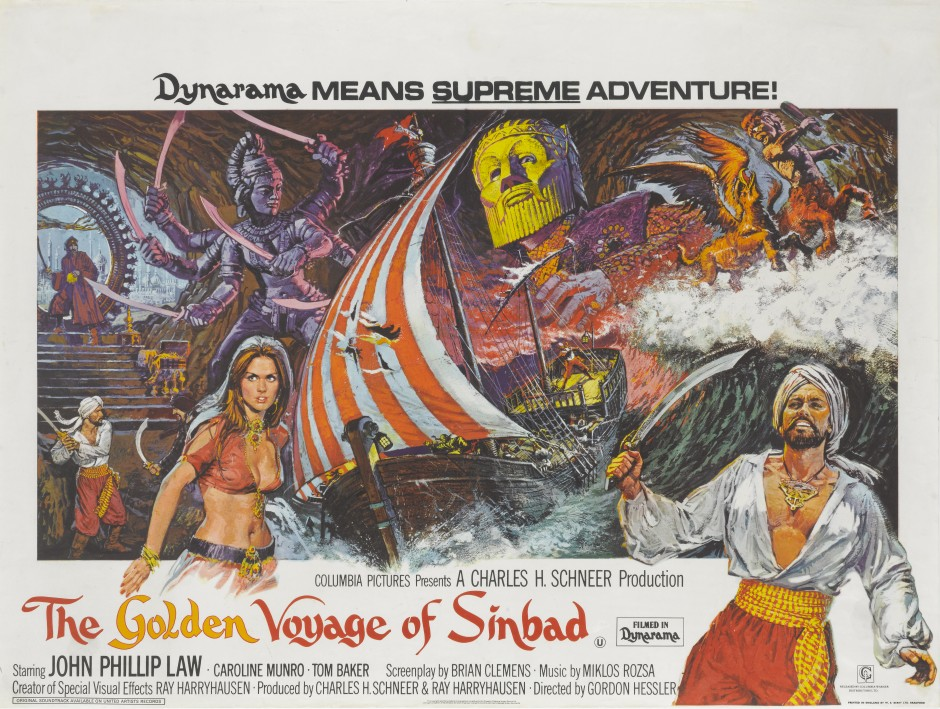 GOLDEN VOYAGE OF SINBAD BRITISH QUAD £250-£300